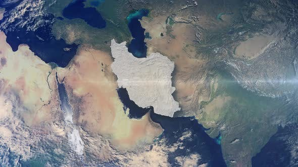 Thumbnail for Realistic Earth Zoom Highlight Country Iran