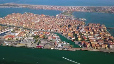 An Ancient Italian City Located on the Water of the Sea
