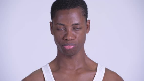 Thumbnail for Face of Young Stressed African Man Looking Bored and Tired