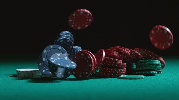 Thumbnail for Poker chips falling in slow motion; shot on Phantom Flex 4K at 1000 fps
