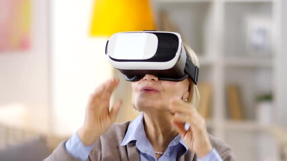 Thumbnail for Aged Woman Using VR Glasses