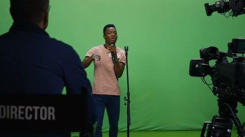 Man Singing at an Audition